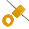 Ceramic Bead Circle 6X4mm Yellow
